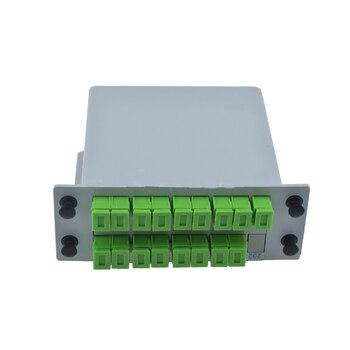 1X16 SC APC PLC Fiber Optic Splitter Box GPON cassette-type Optical Coupler Loose Tube 0.9 2.0 3.0mm Free shipping - sale item Communication Equipment