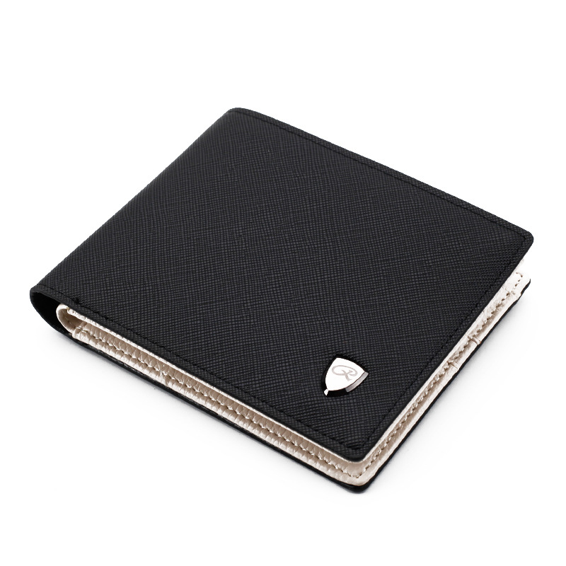 Men Wallets Fashion Solid Color Cross Pattern Open Multi Card Position Wallet Men Leather Purse Men Carteira Billetera Hombre(China)