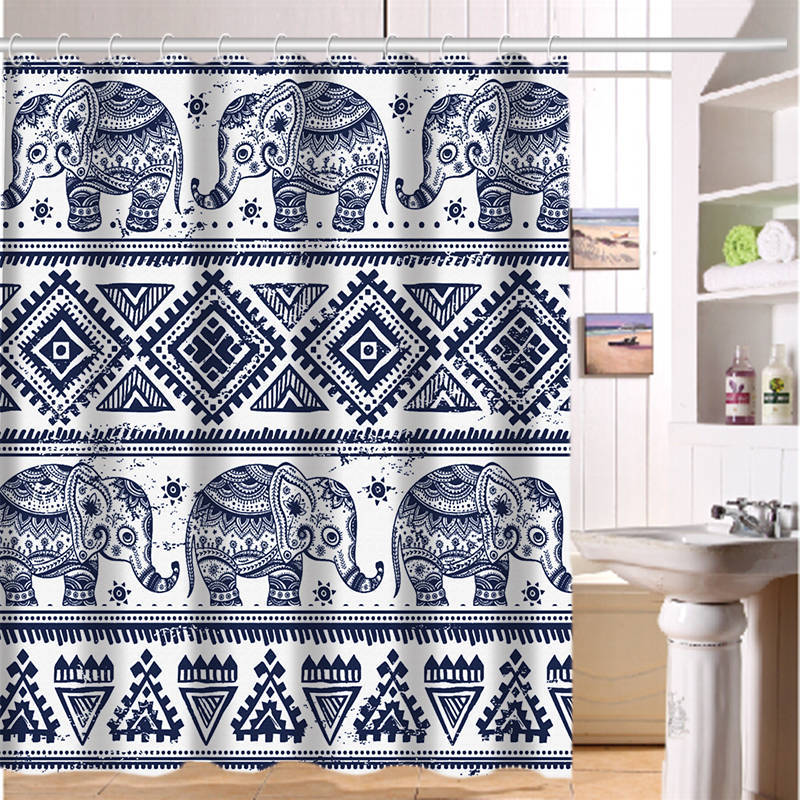 Custom Shower Curtain Elephant Art On Aztec Home Fabric Modern Classical Bathroom Waterproof 60x72inch Free Shipping