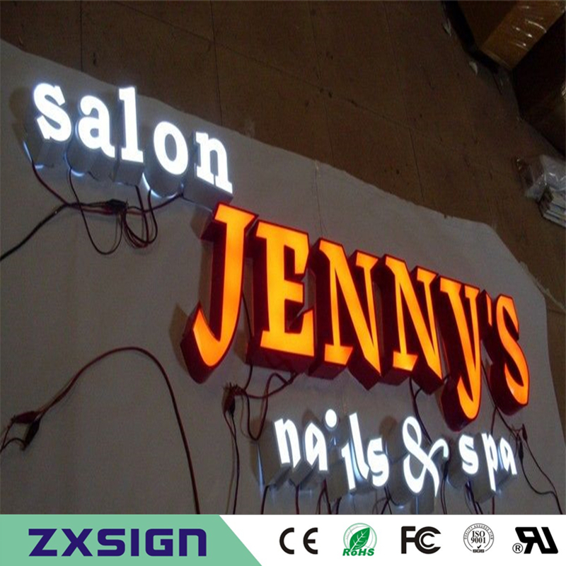 Factory Outlet Outdoor Waterproof High Birghtness Acrylic Stainless Steel Led Letra Luminosa, Advertising Sign Letters For Shop