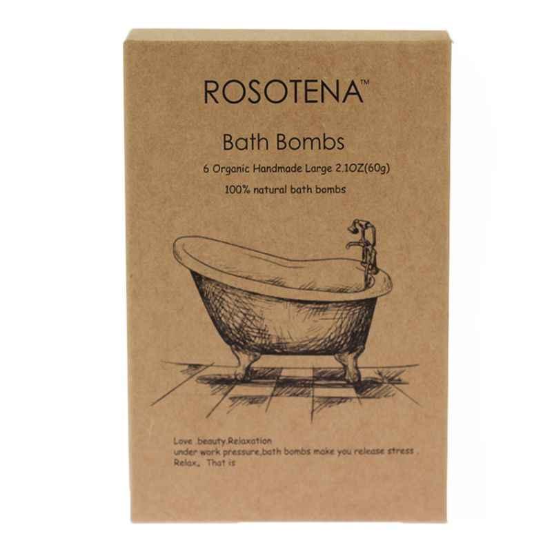 6 шт. шарики для ванны соль мяч Fizzy Bubble Spa органические натуральные ингредиенты сухой кожи увлажняющий Отшелушивание идеальный подарок