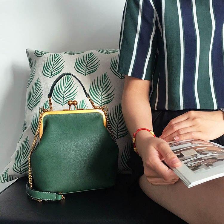 2019 new vintage bag women's handbags leather PU chain shoulder crossbody bags (19)