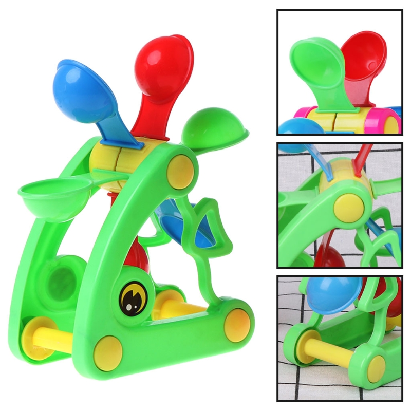 2018 New Windmill Waterwheel Toys Bath Toy Play Sand Water Toys Pool Beach Kid Baby Toy