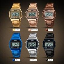 Мужские светодиодный часы, водонепроницаемые, с будильником, наручные часы, календарь, EL светильник, дисплей, наручные часы, Брендовые Часы, мужская мода