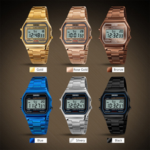 Men LED Digital Watch Waterproof Alarm Wristwatch Calendar EL Light Display wristwatches brand watches mens Fashion