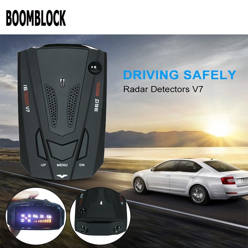 BOOMBLOCK Car Radar Detector Gps Led Light 16 Band Voice