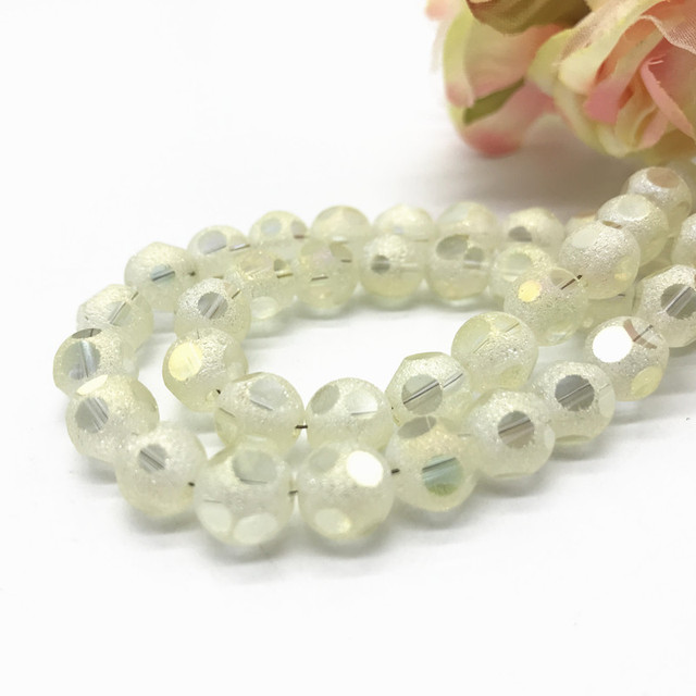 Frosted Faceted Austrian crystal beads 20pcs 8mm High quality glass Loose  beads ball handmade Jewelry bracelet 0ca6df595b88