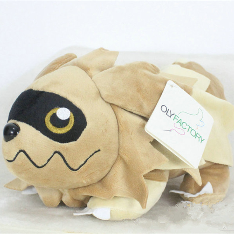 Anime Games Pikachu Series New 30CM Zigzagoon Plush Toy Stuffed Toys A Birthday Present For Children.
