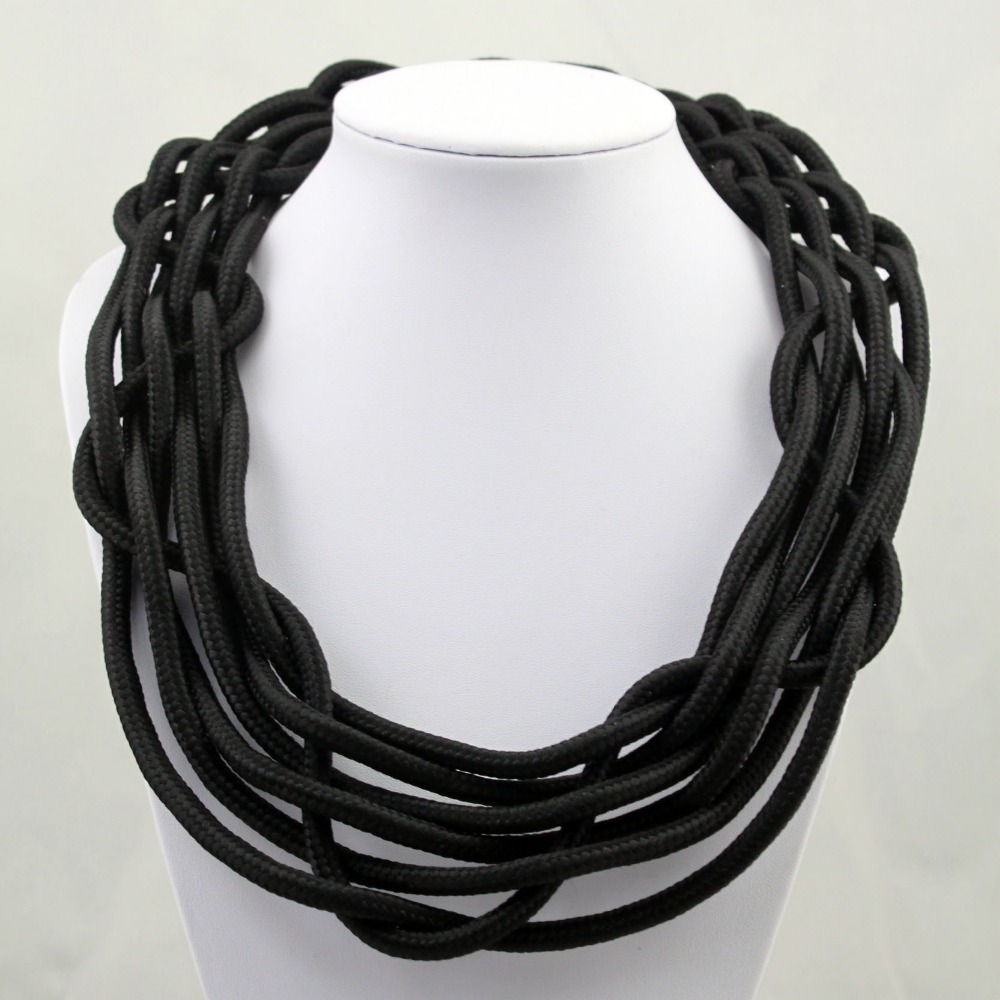 jewelry wholesale fluorescent color cotton rope necklace woven necklace factory direct manufacturers