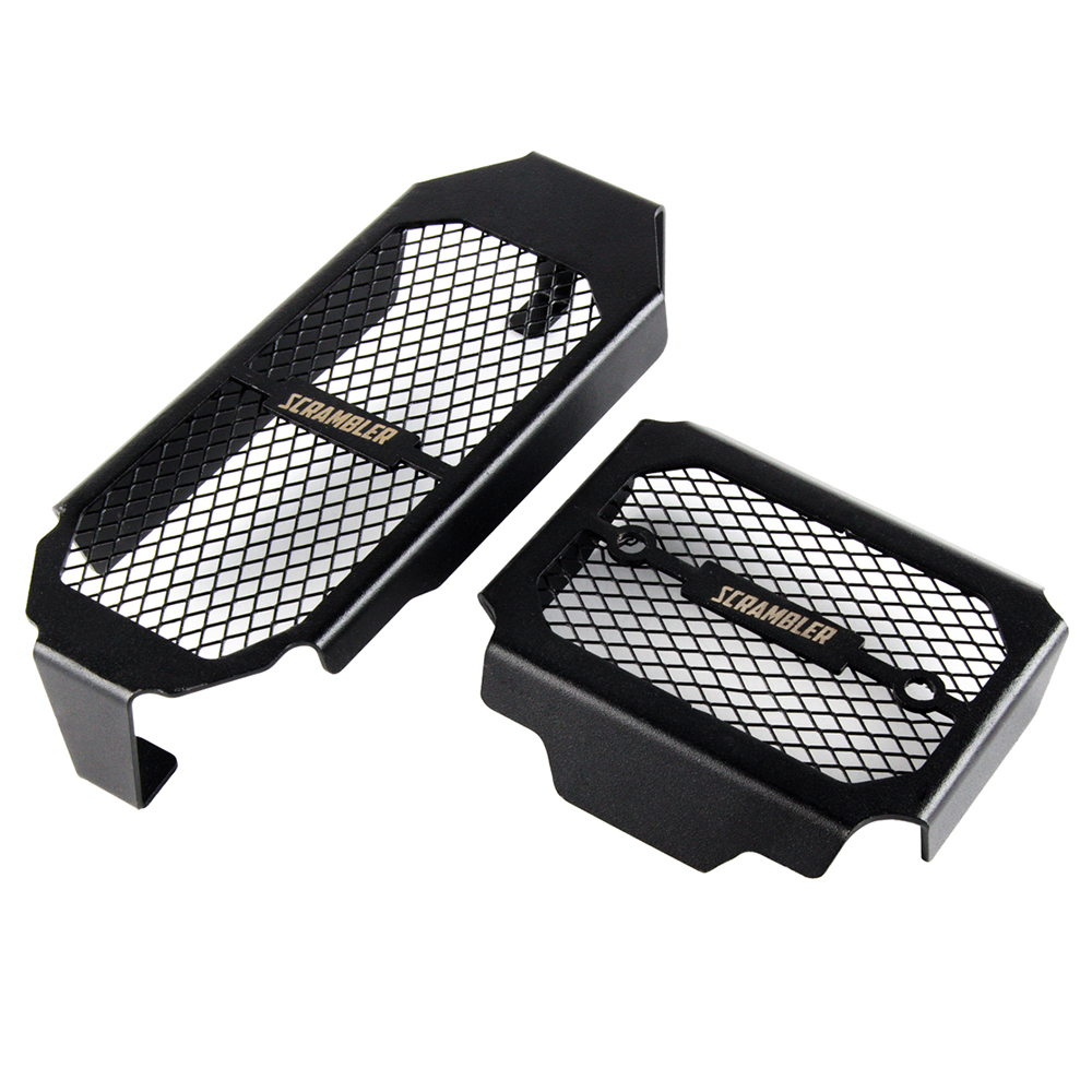 NICECNC Motorcycle Engine Radiator Guard Grill Protector Cover For Ducati Scrambler 800 2015 2016 Black Oil Cooler Grille 2pcsNICECNC Motorcycle Engine Radiator Guard Grill Protector Cover For Ducati Scrambler 800 2015 2016 Black Oil Cooler Grille 2pcs