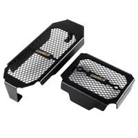 NICECNC Motorcycle Engine Radiator Guard Grill Protector Cover For Ducati Scrambler 800 2015 2016 Black Oil Cooler Grille 2pcs