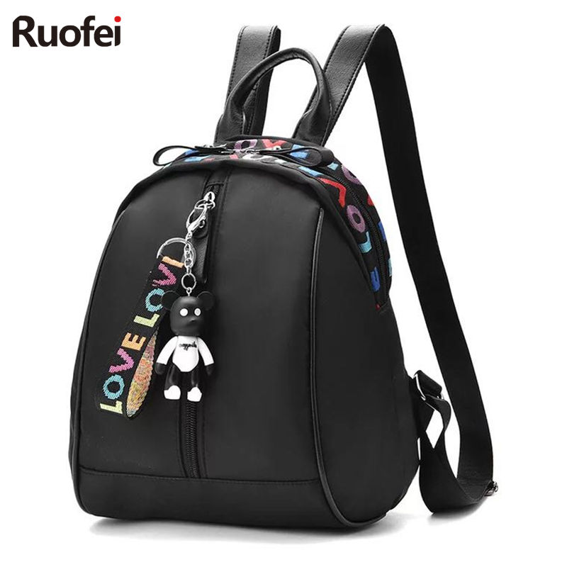 купить New Fashion Backpack Women Children Schoolbag Back Pack Leisure Korean Ladies Knapsack Travel Bags for School Teenage Girls онлайн