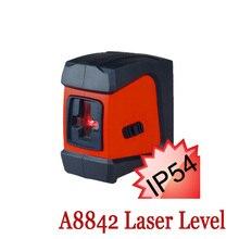 ACUANGLE A8842 Красный Лазерный Уровень 360 самовыравнивающийся Ротари 2 Строк 1 Балл Nivel Лазера авто nivelamento Портативный Диагностический-инструмент