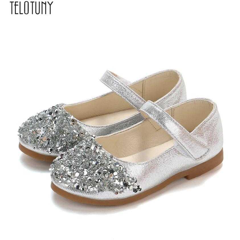 TELOTUNY девочка принцесса обувь дети младенец Начинающий ходить Малыш Девушки Мода Кристалл кожа тонкие туфли вечерние туфли принцессы ZO04