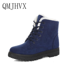hot deal buy qmjhvx martin boots winter snow boots for women shoes heels suede women boots masculino lace-up shoes woman snow dropshipping