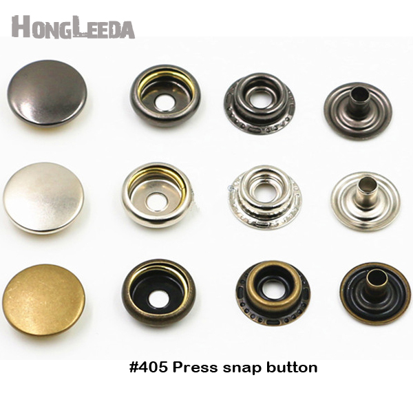 50pc Small Mini Metal Press Studs Buttons Card 10MM Snap Twitch Fastener Tool