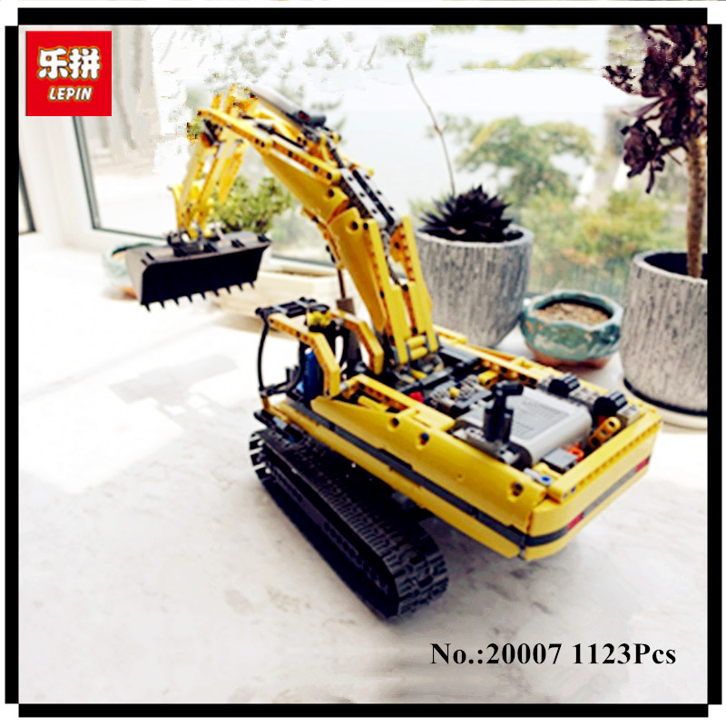 IN STOCK LEPIN 20007 1123pcs Technic series excavator Model Building Kit Blocks Brick Compatible Toy Christmas Gift 8043 диск отрезной алмазный турбо 125х22 2mm 20007 ottom 125x22 2mm