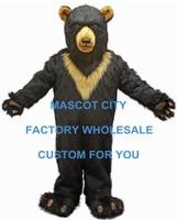 EMS FREE SHIPPING! Burly Black Bear Mascot Costume SW497