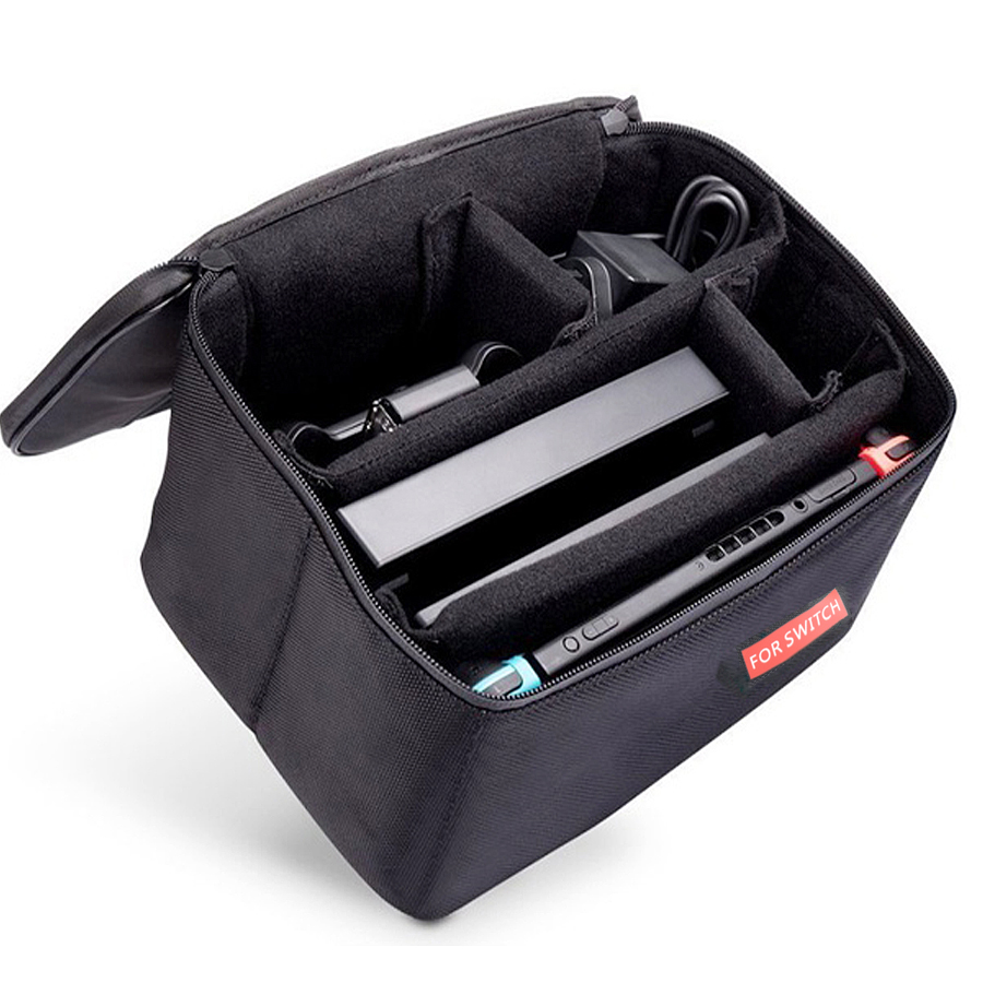 8 in 1 Kit Big Pouch Carrying Box Protective Storage Bag for Nintend Switch Console Case &2 Handgrips&Silicon Cases&Analog Caps 2