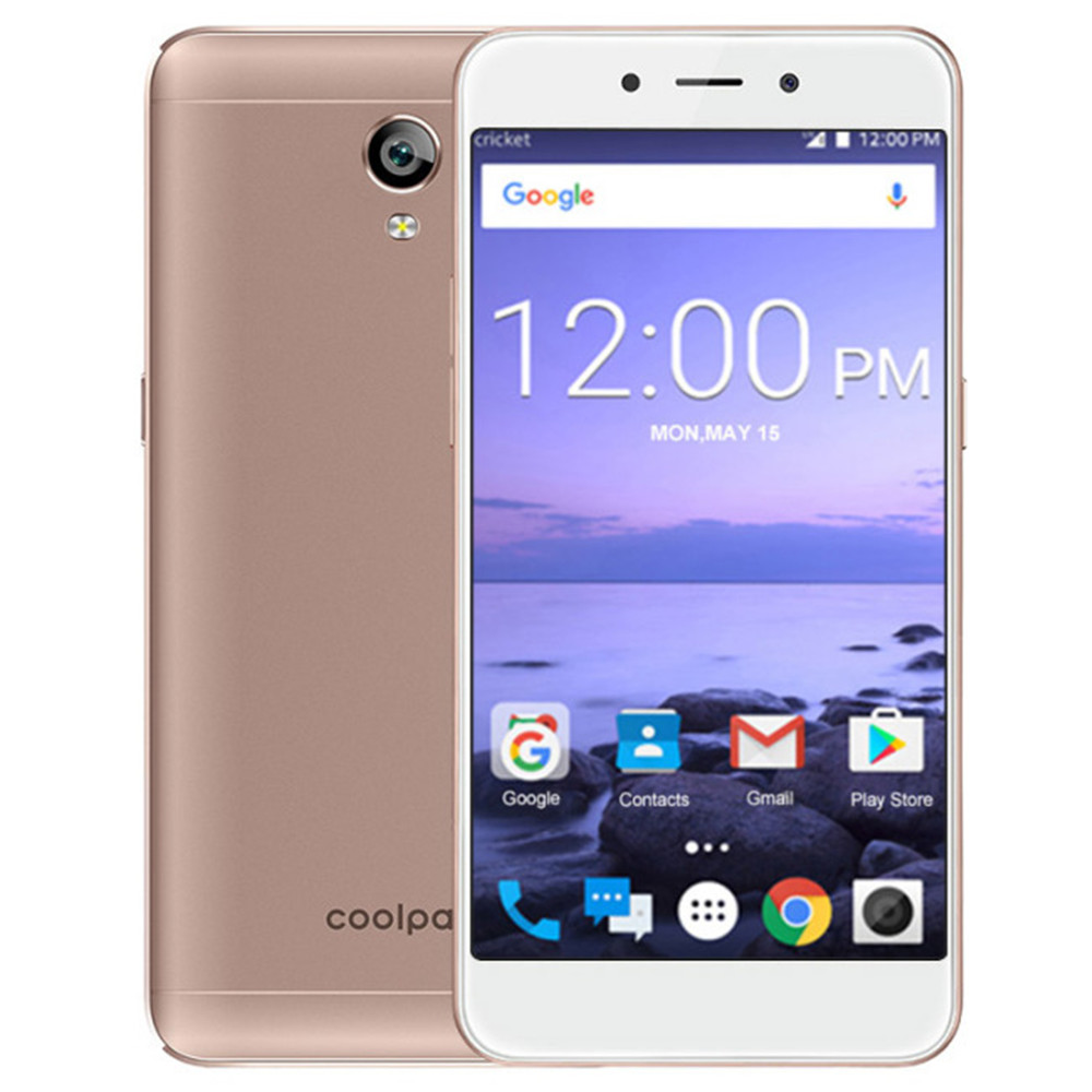 COOLPAD Roar 5 E2C 1GB RAM 16GB ROM Snapdragon 210 1.1GHz QuadCore 5.0 Inch IPS HD Screen 2500mAh 4G LTE Android 7.1 Smartphone