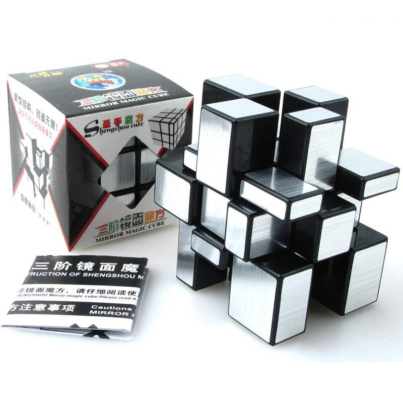 ShengShou Brossé Enduit De Fonte Miroir Blocs Cubo magie 3x3x3 Puzzle Miroir Cubes Éducatifs Cubo magico kub Juguetes jouets