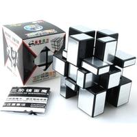 ShengShou Brushed Cast Coated Mirror Blocks Magic Cube 3x3x3 Puzzle Mirror Cubes Educational Cubo Magico Kub