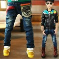 2015 Autumn New Children's clothing boys jeans with pocket patchwork style good quality lower price  B029