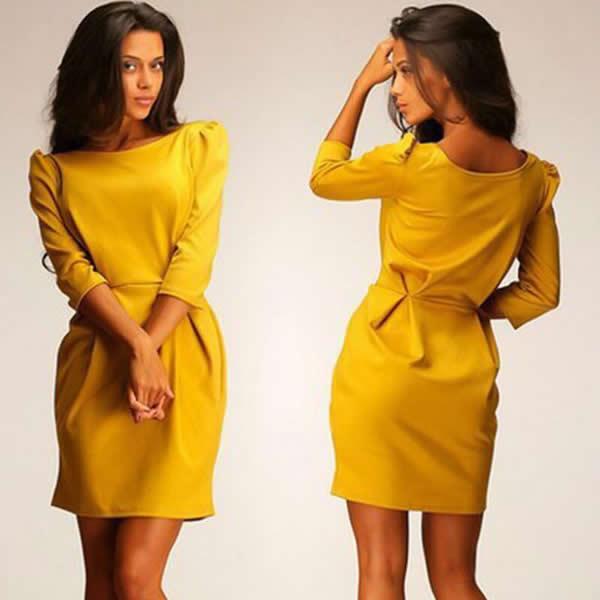yellow dress 16 zipper