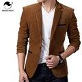 Blazer Men 2017 Men'S Fashion Brand 3 Pockets In A Solid Color Male Single-Breasted Single Button Terno Masculino 3XL PPQUW