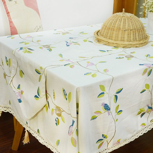 American Country Style Table Cloth Flower Bird Print Tovaglia Coffee Table  Cover Toalhas Tablecloth Free Shipping ZB 36 In Tablecloths From Home U0026  Garden On ...
