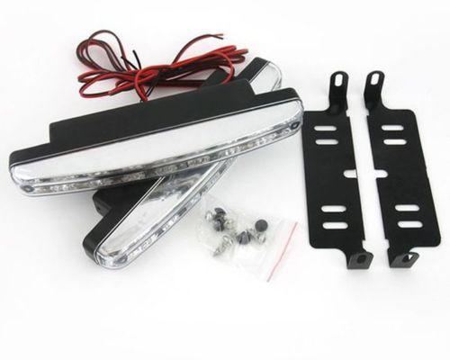2db 8 LED-es nappali menetjelző lámpa DRL nappali fény ködlámpa - Autó világítás - Fénykép 5