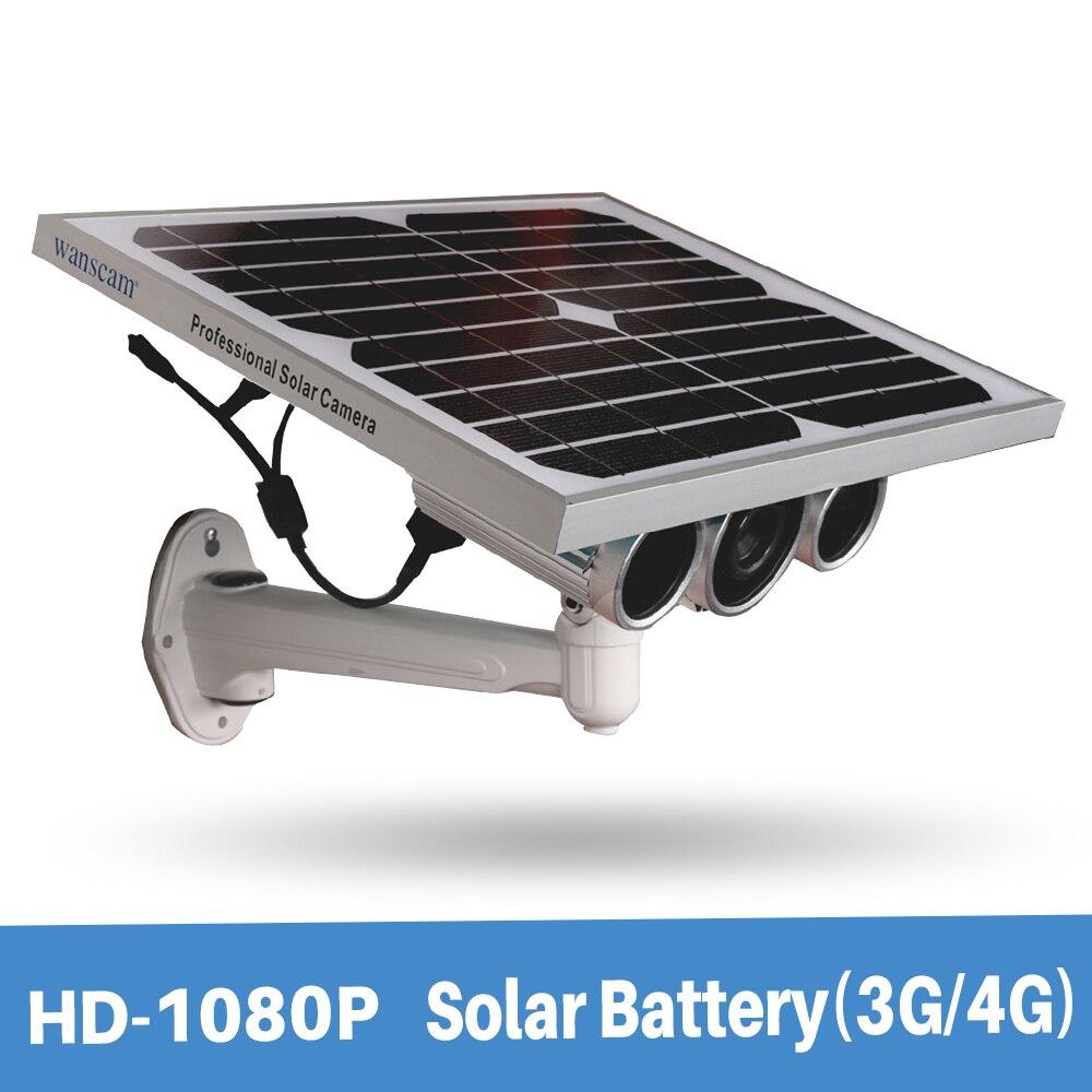 Wanscam HW0029-6 Soutien 3G/4G Sim Carte Starlight Nuit Vision Onvif deux Batteries 1080 P Solaire Alimentation de la Caméra IP Avec 16G TF carte