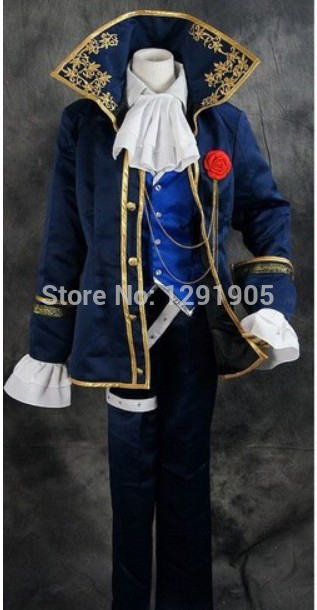mens period costume embroidery fan collar Medieval stage performance/Prince charming fairy William /civil war/Colonial Belle
