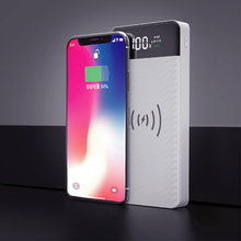 QI Wireless Charging Power Bank 20000mAh External Battery Power Bank Wireless Smartphone Charger for iPhoneX 8 Samsung S9 S8 S7