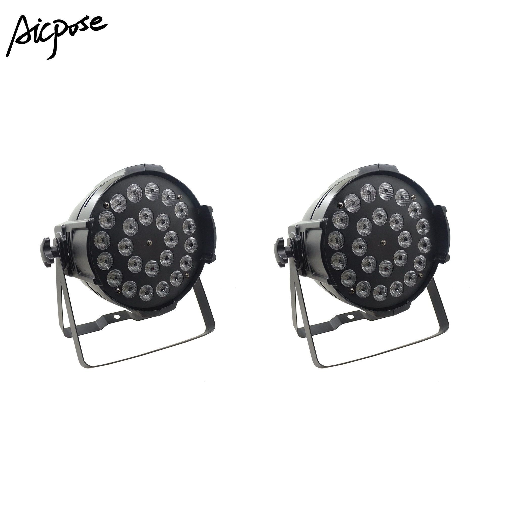 2pcs/lot 24x12w Light Aluminum LED Par 24x12W RGBW 4in1 LED Par Can Par 64 Led Spotlight Dj Projector Wash Lighting Stage Light