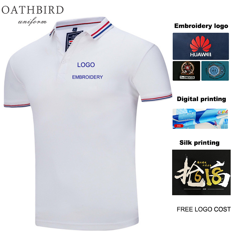 Polo Custom Embroidery Personalized Men Women Business