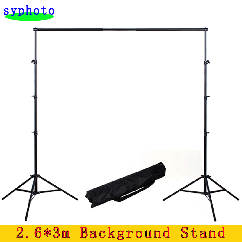 Photo Studio 2.6*3m Adjustable Background Support Stand Photo Backdrop Crossbar Kit Photography Equipment 2 8m x 3m pro adjustable background support stand photo backdrop crossbar kit photography stand 3 clips for photo studio