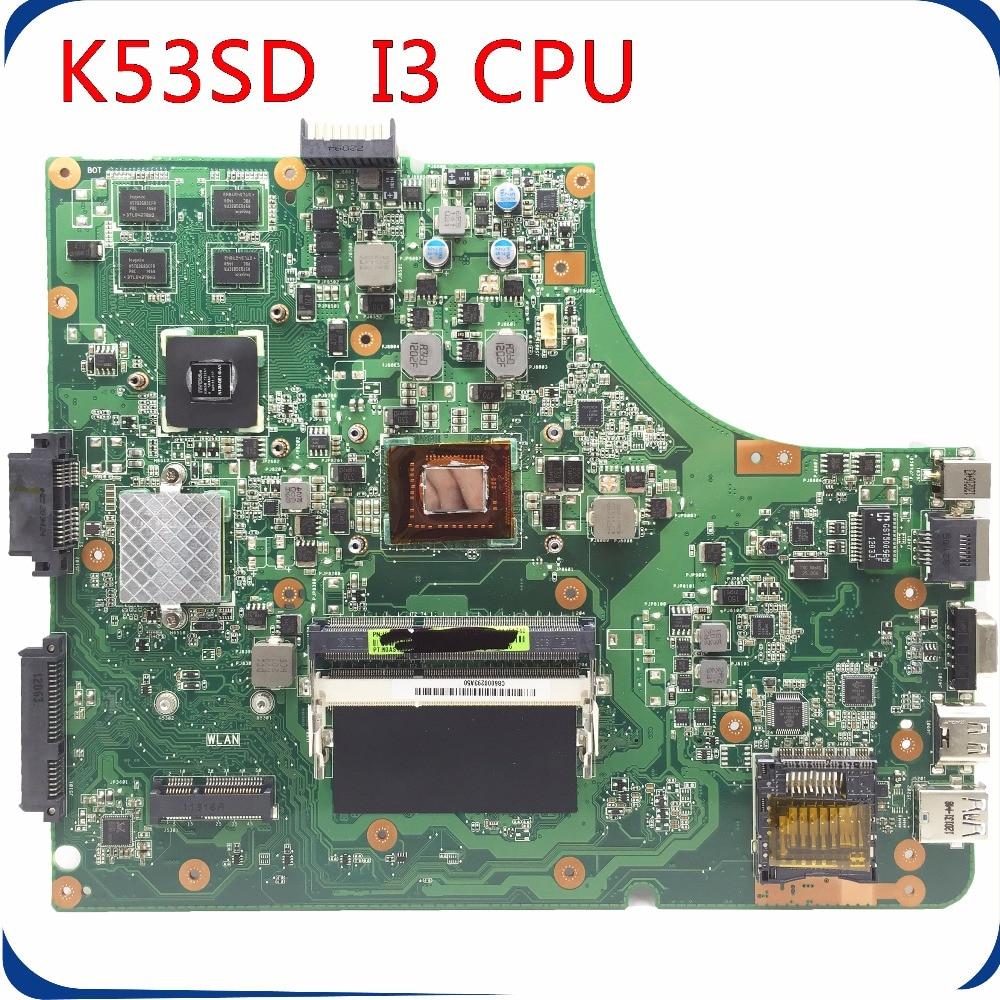 SHELI K53SD motherboard fit for K53SD A53S K53S laptop motherboard GT610 I3 CPU PM tested original mainboard msi original zh77a g43 motherboard ddr3 lga 1155 for i3 i5 i7 cpu 32gb usb3 0 sata3 h77 motherboard