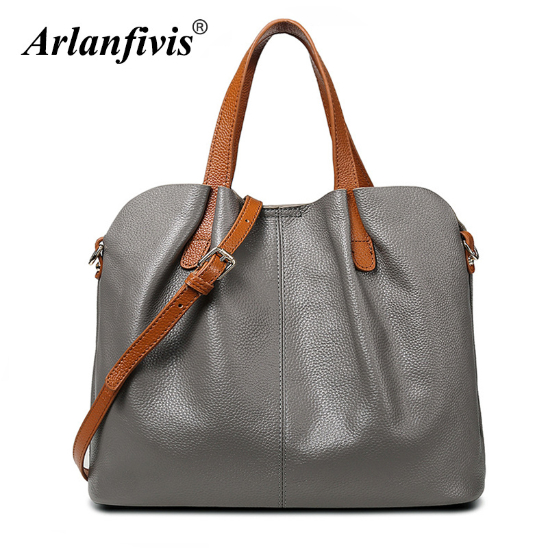 Arlanfivis Genuine Leather Luxury New 2018 Fashion Woman Hobo Bag bolsa feminina Handbag crossbody bags for women Tote bag Purse arlanfivis genuine leather bags for women luxury large capacity handbag new 2018 fashion bolsa feminina ladies tote shopping bag