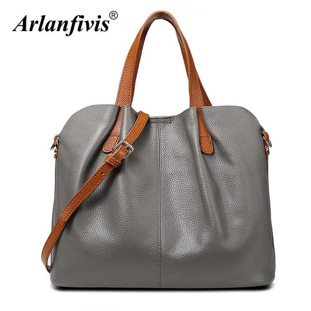Arlanfivis Genuine Leather Luxury New 2018 Fashion Woman Hobo Bag bolsa  feminina Handbag crossbody bags for women Tote bag Purse 198eb9c217f8d