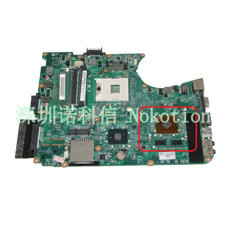 NOKOTION Main Board A000076410 DABL6DMB8F0 For toshiba satellite L655 Laptop Motherboard HM55 DDR3 full test