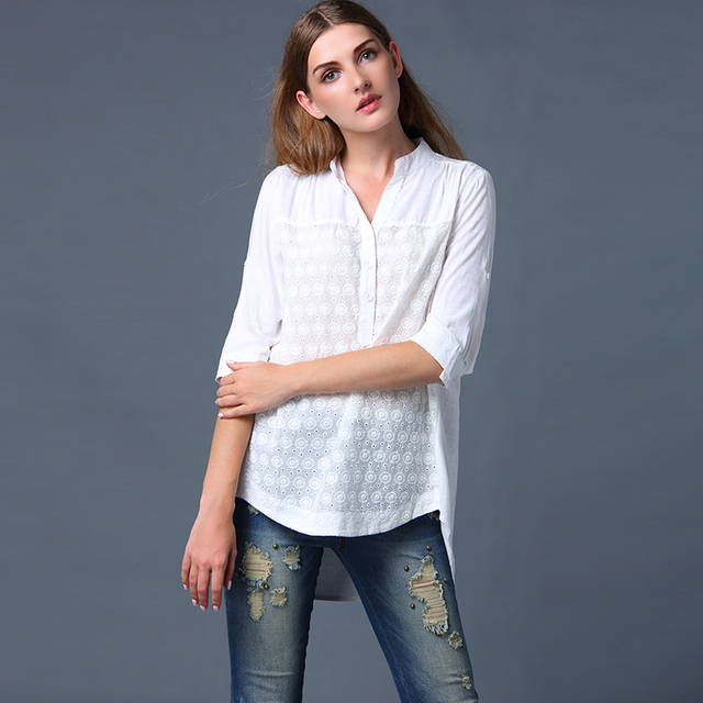 Witte zomer blouse