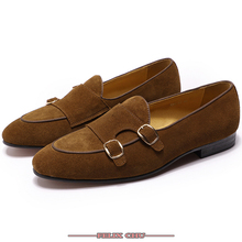 LUXURY BRAND CASUAL SHOES MEN LOAFERS HIGH GRADE WEDDING LEATHER PATCHWORK SUEDE HASP SLIP ON PARTY