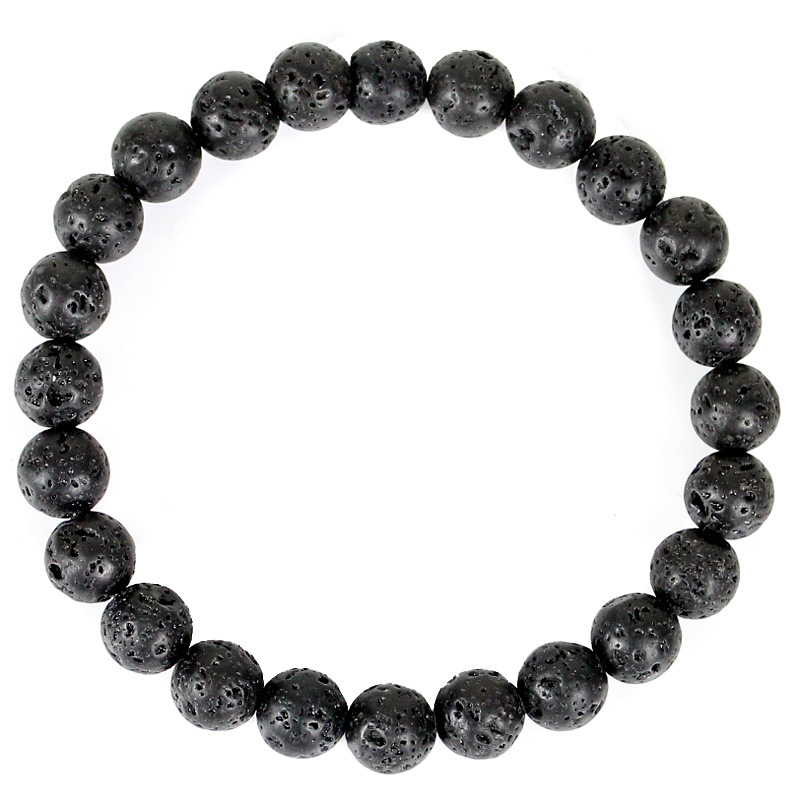 6mm 8mm 10mm 12mm Volcanic Lava Stone Beads Bracelets Essential Oil Diffuser Beads Strand Braclet Healing Magnet Beads Bracelet in Strand Bracelets from Jewelry Accessories