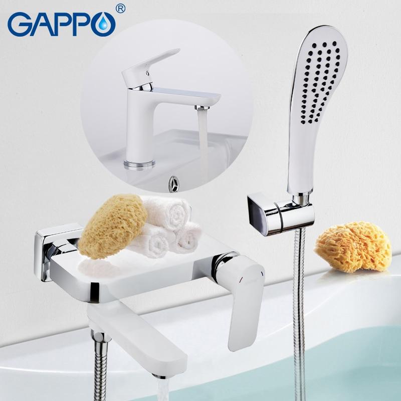 GAPPO Bathtub Faucets bath shower water tap bathroom faucet waterfall faucet mixer water wall mounted faucet square wall mounted water tap bathroom faucet mixer