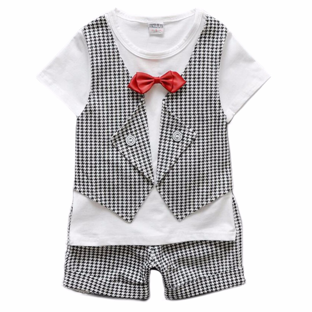 2 3 4 Year Plaid Bowtie Toddler Boys Wedding Dress Baby Boy Summer Outfit Birthday Set For Suit In Clothing Sets From Mother