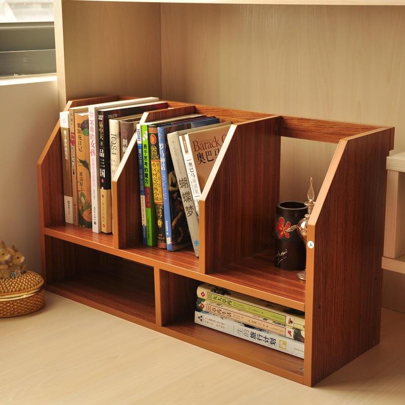 간단한 나무 테이블 작은 책장 책장 선반 사무실 데스크탑 수 ...
