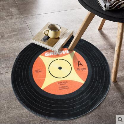 Nordic Imitation Disc Printed Non-slip Floor Carpet Indoor Entrance Doormat Rugs For Living Room Bedroom Kitchen Tapis Mat