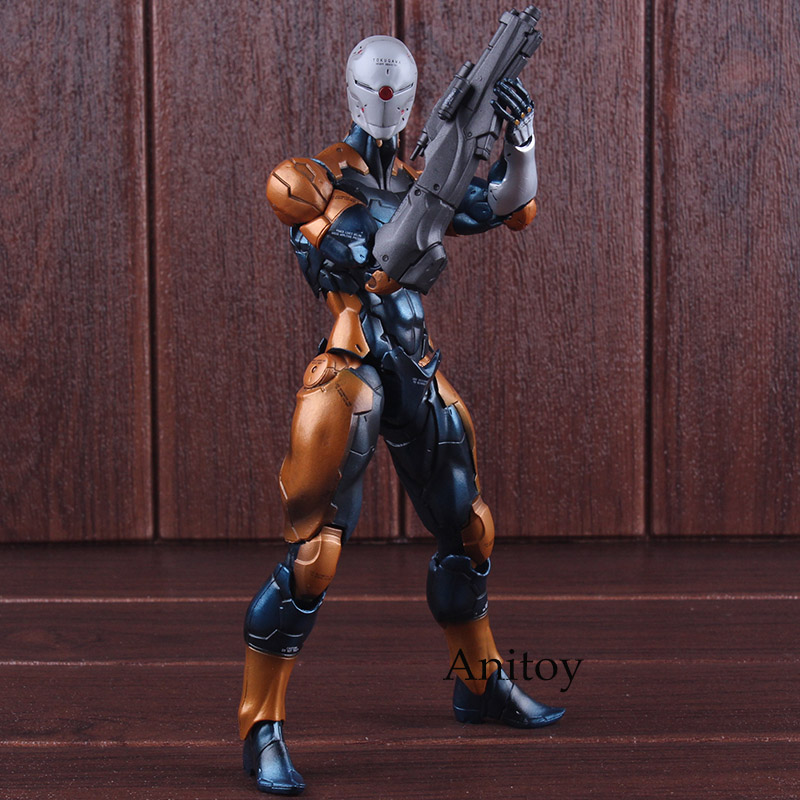 Metal Gear Solid Cyborg Ninja Gray Fox Metal Gear Play Arts Kai PVC Tactical Espionage Action Figures Collectible Model Toy лонгслив ruxara