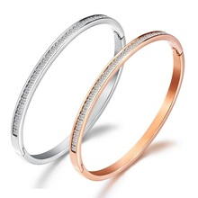 Rose gold titanium steel bracelet, female,jewelry watch